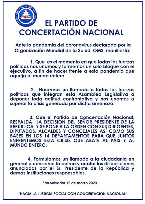 #Comunicado El PCN ante la pandemia del #Coronavirus manifiesta: