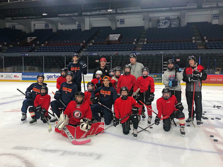 Syracuse Orange Practice With Squirts Team at the OnCenter