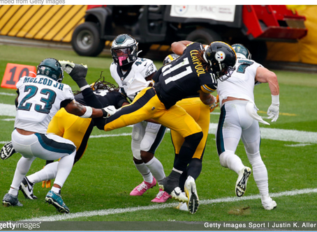 Second-Round Knockout: Eagles Succumb To Claypool, Steelers