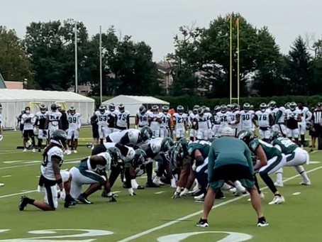 Eagles Camp Observations: Risers, Fallers From Day 1 In Pads