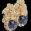 Thumbnail: Dahlia aqua earrings