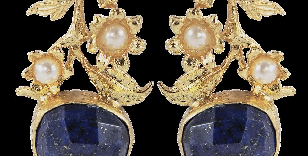 Dahlia aqua earrings