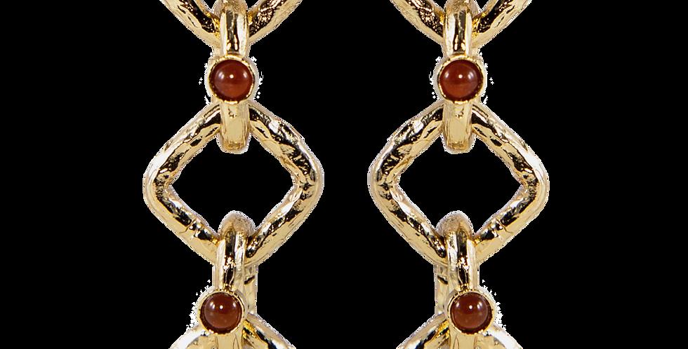 Anemone chain earrings
