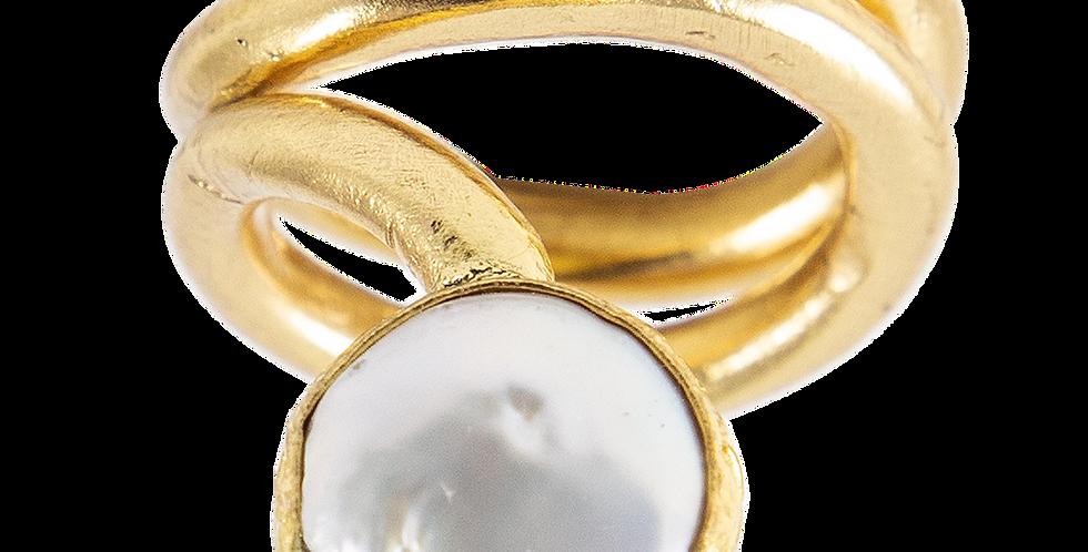 Dahlia spiral ring
