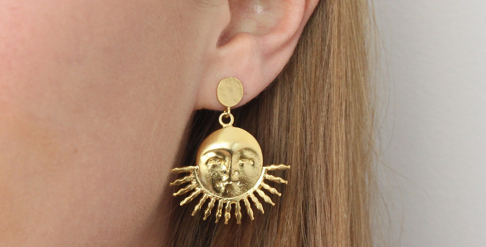 Sun I Moon earring