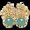 Thumbnail: Dahlia azure earrings