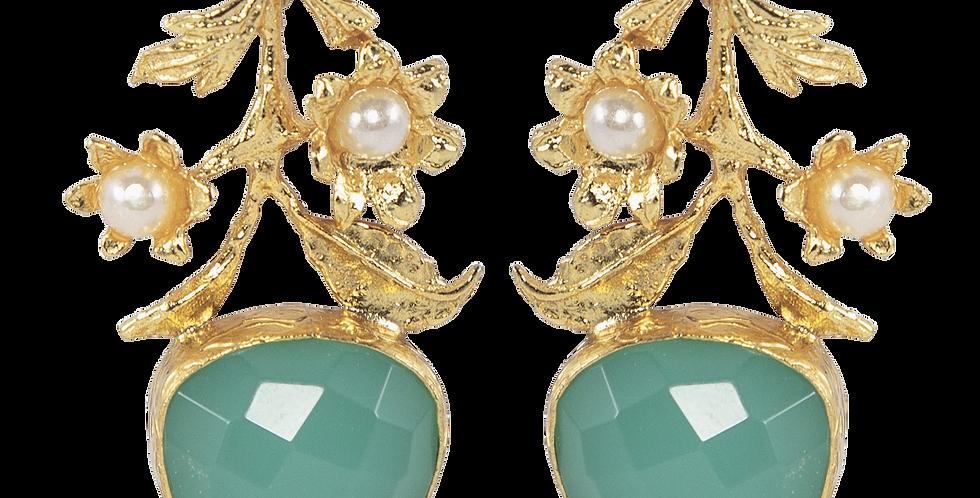 Dahlia azure earrings