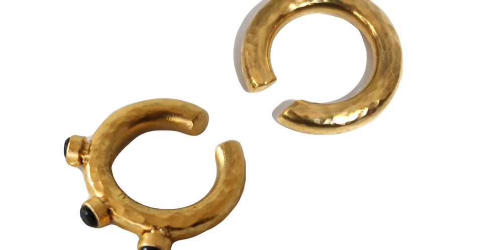 Duo stones earcuff