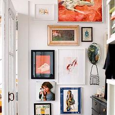 My bedroom wall of love❤️ #hgathome #artwall #putrandomthingstogether #hgid #artwork _anna