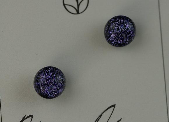 Dark Purple Crinkle Round Post