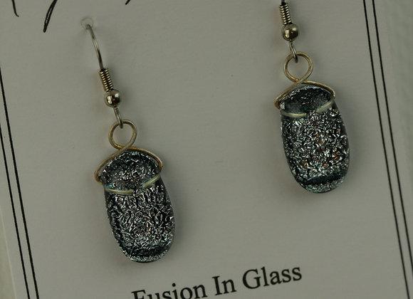 Hook Earrings Black and Silver 1