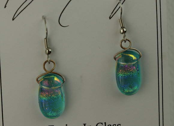 Hook Earrings Aqua Rainbow