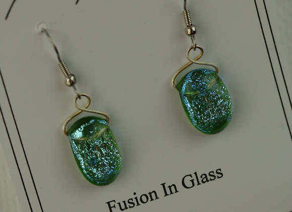 Hook Earrings Green 1