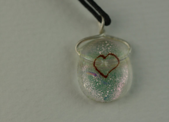 Small Heart Pendant Pink 1