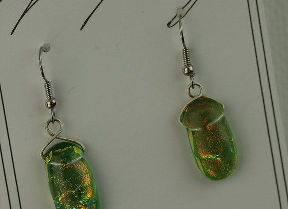 Hook Earrings Green 2