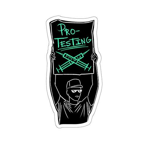 Pro-Testing sticker-black