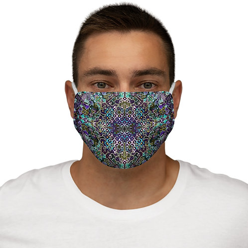 Ayahuasca Visions Snug-Fit Face Mask- Cotton inner layer