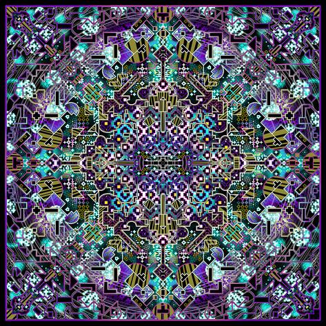 Inspired by indigenous Peruvian,Shipibo, textile art.