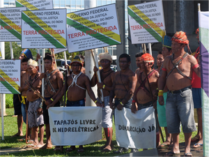 Indigenous people of Brazil protest