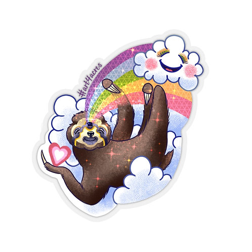 TripleVision Sloth Swinging from a Rainbow