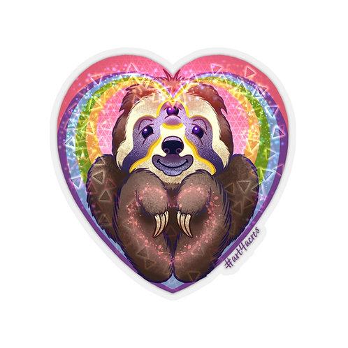 TripleVision Rainbow Sloth Heart