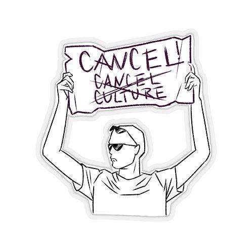 Cancel Cancel Culture sticker- white
