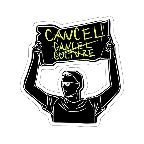 Cancel Cancel Culture sticker- black