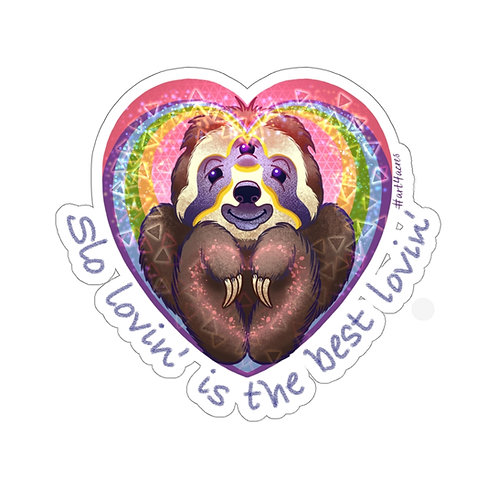 TripleVision Rainbow Sloth Heart- Slo Lovin'