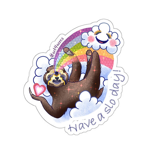 TripleVision Sloth Swinging from a Rainbow- Have a slo day!