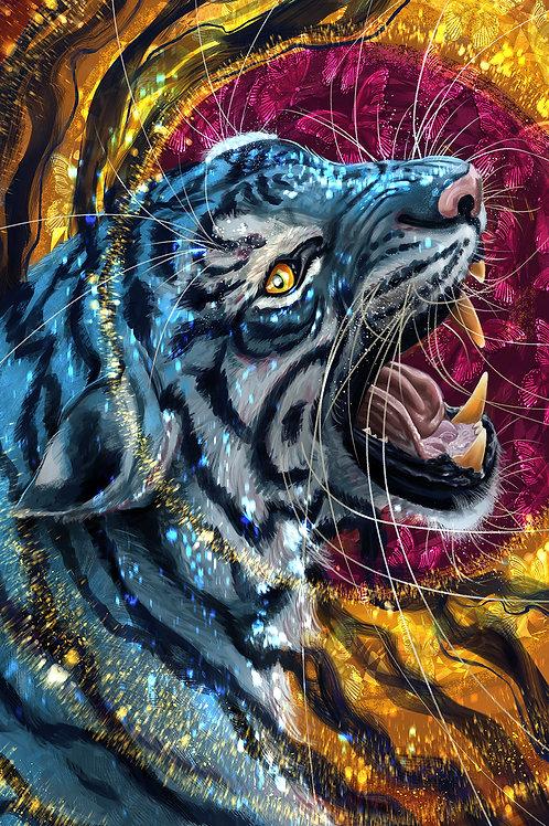 Tiger Heart Bfly Soul Phone Wallpaper