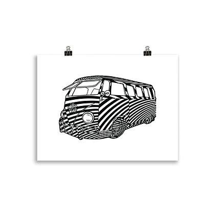 My Kombi - Giclée print