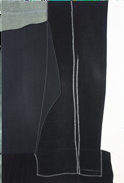 canvas-SiSTER1(캔버스자매), 2017, fabric on canvas, 60x90cm