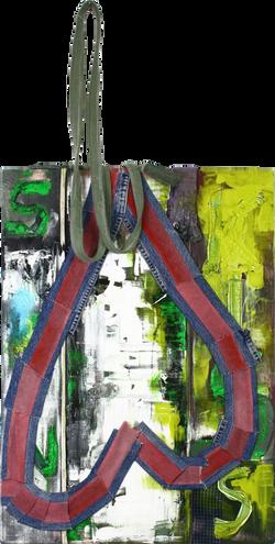 KISS(키스), 2017, mixed media on canvas, 53x72cm