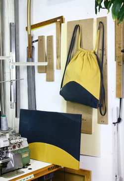 Bag_Art(Day_Night), 2017, fabric bag and canvas,56x33cm