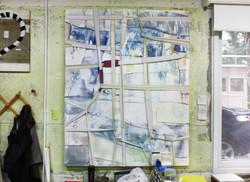 Bondage(묶음), 2017, mixed media on canvas, 130x162cm