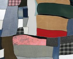Canvas No.8, 2014, fabric on canvas, 162x130cm