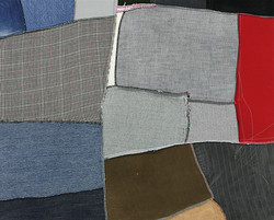 CANVAS NO.2, 2014, fabric on canvas, 100x80cm