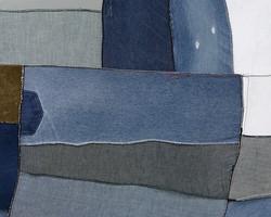 CANVAS No.1, 2014, fabric on canvas, 90x70cm