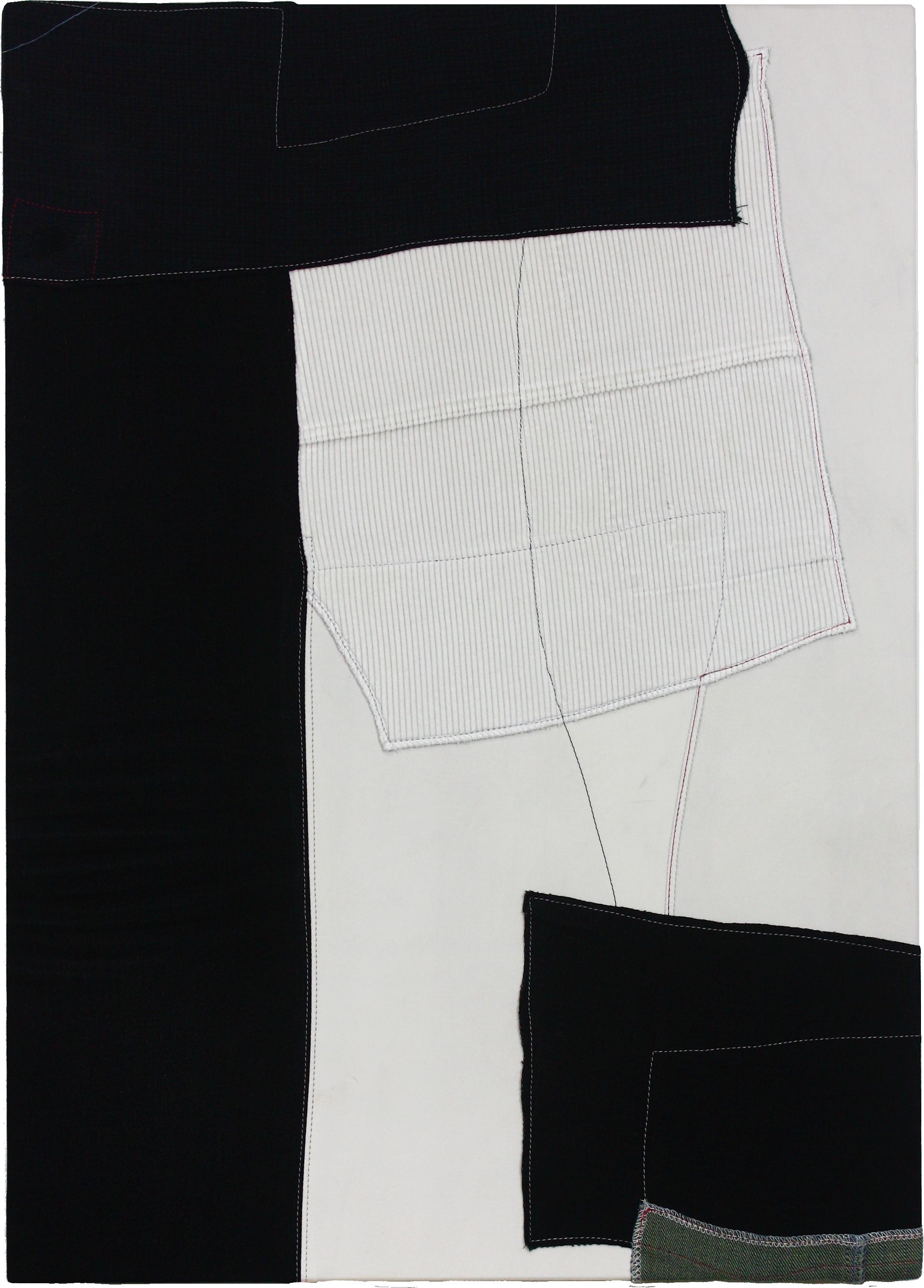 canvas-SISTER2(캔버스자매), 2017, fabric on canvas, 54x72cm