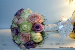 White and lavender roses