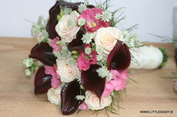 Calla lilly and rose bridal flowers