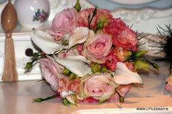 Calla lilly and pale pink bridal