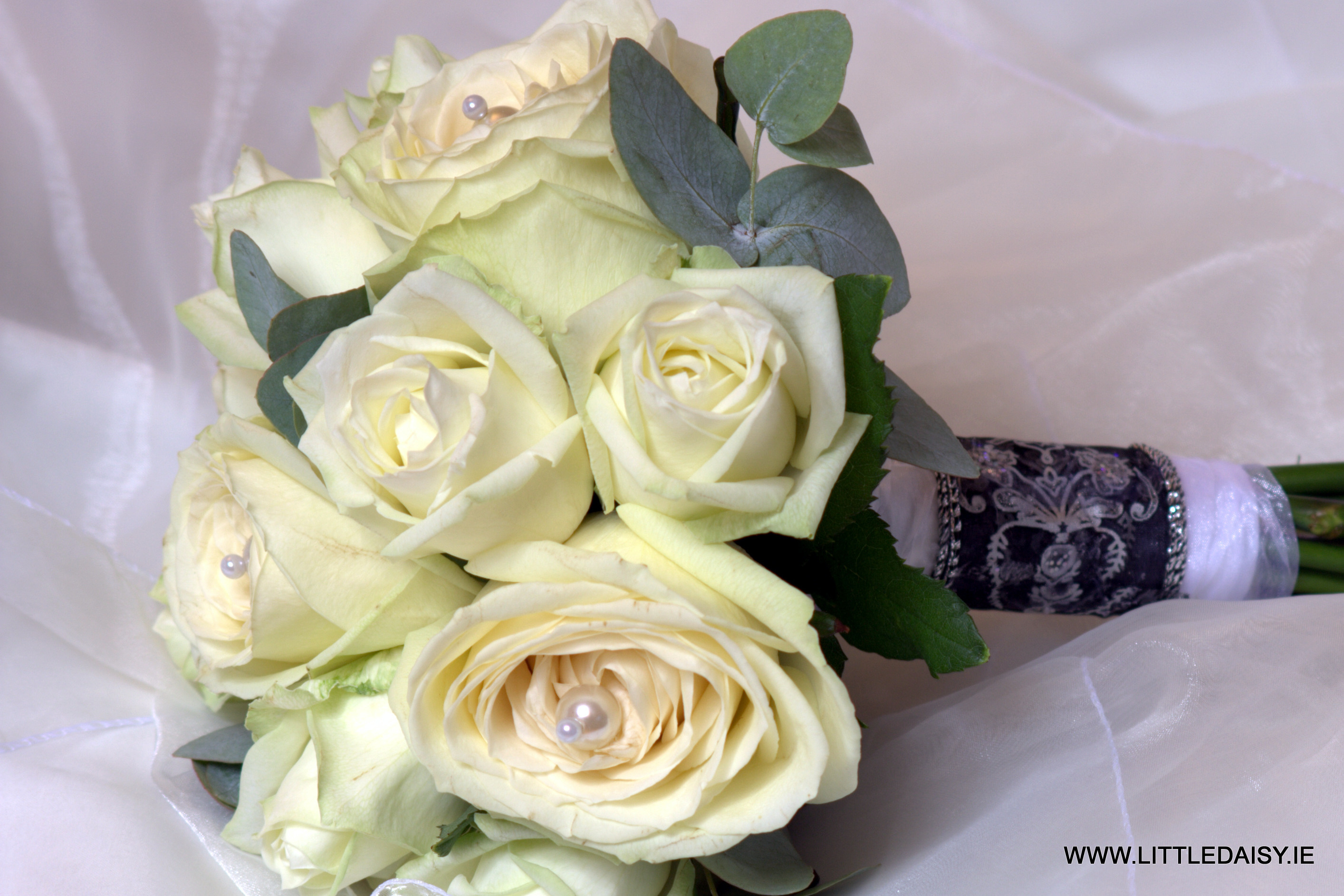 White rose and greenery