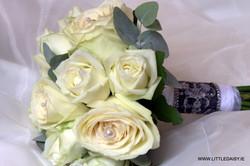 White rose and greenery