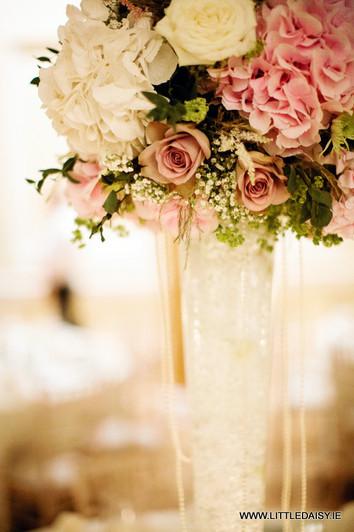 Glass flower centrepiece