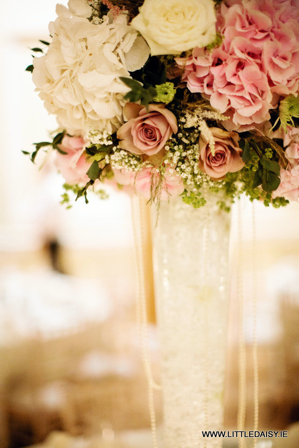 Glass flower centrepiece