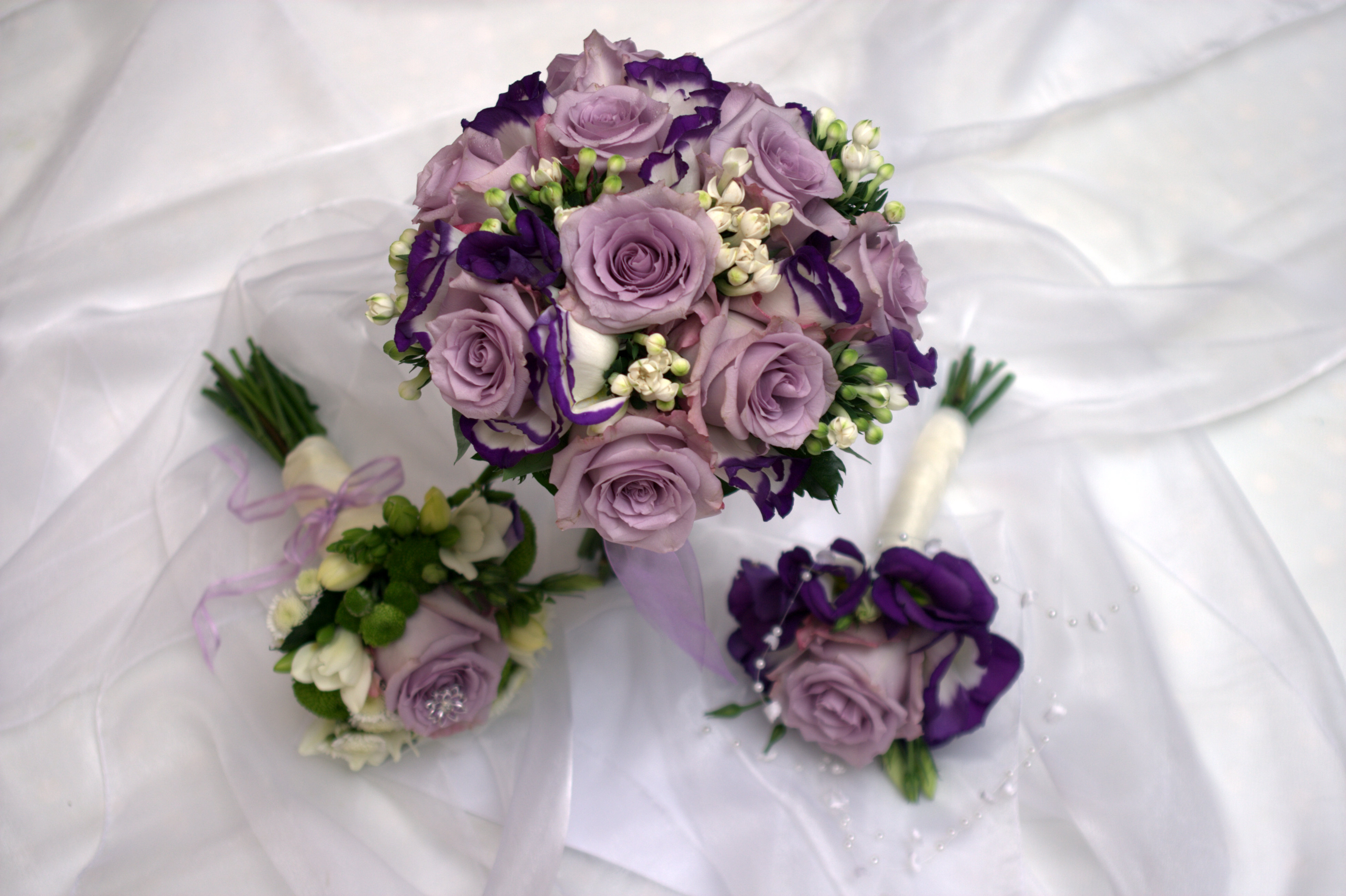Lavender bridal flowers