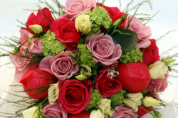 Hot pink wedding flowers