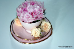china cup of flowers