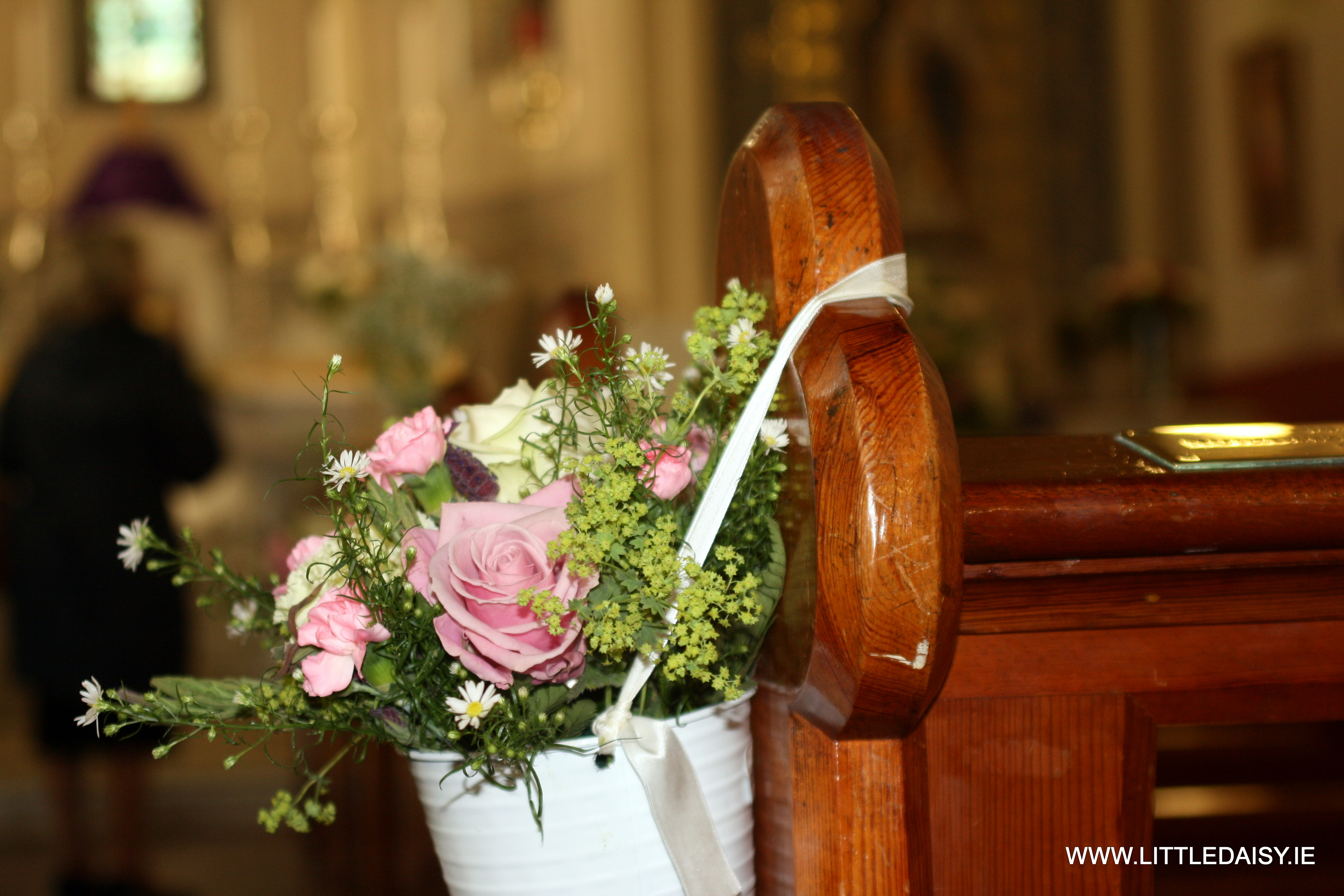 Fresh flower pew ends